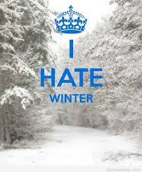 funny keep calm and hate winter