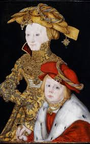 portrait of a lady and her son by