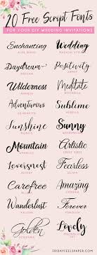 here s a round up of some of my favourite free beautiful script fonts that you can and use for personal use on your diy wedding invitations