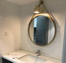 Image Unique Iron Wall Hanging Personality Round Mirror Creative Bathroom Mirror Simple Fashion Bathroom Decoration Vanity Mirror Q424in Bath Mirrors From Home Aliexpresscom Iron Wall Hanging Personality Round Mirror Creative Bathroom Mirror