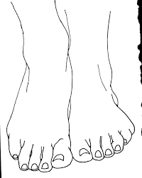 Small Picture Foot Coloring Page Throughout Pages Throughout snapsiteme