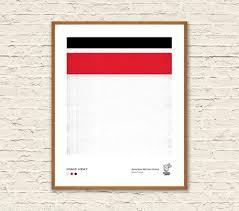 Miami Heat Chart Miami Heat Pantone Minimalist Poster Downloadable Art