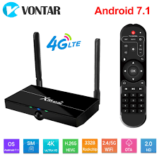X88 4G Lte Smart TV BOX Android 7.1 TV Box support 4G Nano SIM CARD 2GB  16GB Rockchip RK3328 Support Dual Wifi 4K 60fps USB3.0 Set-top Boxes