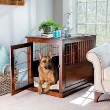 Coventry Wood Metal Pet Crate Table