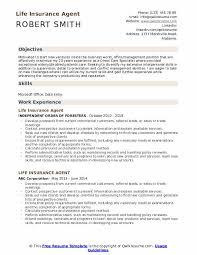 Life Insurance Agent Resume Samples Qwikresume