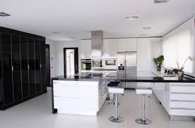 modern white and black kitchen. Modern White And Black Kitchen