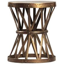 dovetail metal side table  candelabra inc