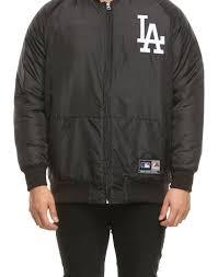 Majestic Jacket Size Chart Majestic Athletic Los Angeles Dodgers Adswood Satin Jacket Black