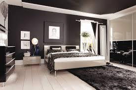 Bedroom: Minimalist Black And White Italian Bedroom Furniture Design White  Bedside Tables With Drawers White