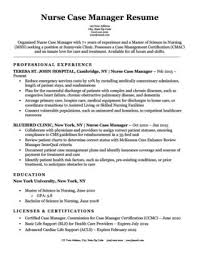 Nurse Case Manager Cover Letter Sample Resume Companion