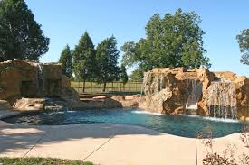 inground pools with waterfalls and slides. Poolside Water Features Rock Slides Waterfalls Grottos Inground Pools With And