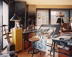 artist office. simple artist vintage work space  an artistu0027s studio with a pair of floor lamps and  mirrored to artist office