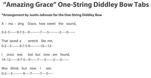 Amazing Grace 1 String Guitar Tab Noxad Org