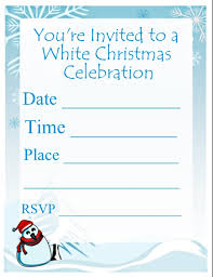White Christmas Invitations White Christmas Party Invitation