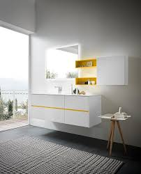 white lacquered furniture. Lime 2.0 Comp.05, Luminous Cabinet For Bathroom Furniture, In White  Lacquered Furniture