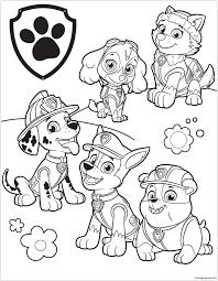 25 Printen Paw Patrol Kerst Kleurplaat Mandala Kleurplaat Voor
