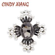 <b>CINDY XIANG 2 Colors</b> Available Crystal Cross Brooches for ...