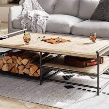 teak aluminum outdoor coffee table