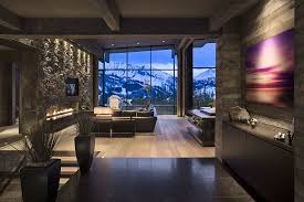 View in gallery Entry wih a modern fireplace