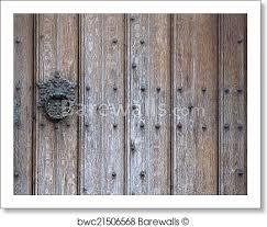 old wooden door background art print