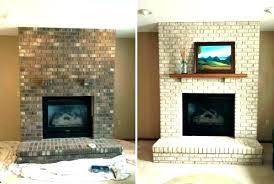 painted brick fireplace painting red brick fireplace painted fireplace before and after fireplace brick painting brick
