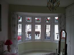 corner curtain rods for bay windows how to