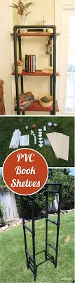 Pvc Pipe Bookshelf How To Make Pvc Book Shelves Pvc Pipe Industrial Chic And Book