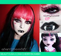 monster high draculaura makeup look cherry c s cherry81 photo beautylish