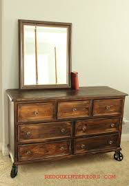 dresser on wheels. Contemporary Dresser Rustic Dresser Refinished With Industrial Casters I Want To Do  This Our Current Wardrobe And  Minus The Wheels In Dresser On Wheels