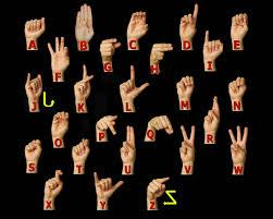 Asl Finger Chart American Sign Language Asl