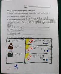 Uv Bead Experiment Lab Sheet Third Grade Science Creative