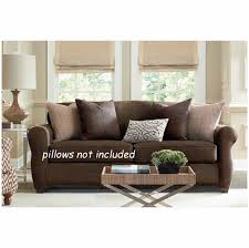 ultimate stretch faux leather sofa cover 39 jpg