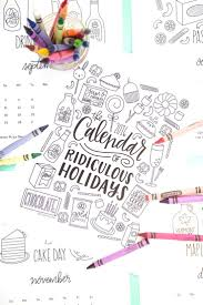 Free Printable Coloring Calendar Pages Featuring