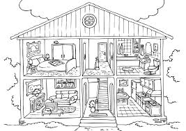Free House Coloring Pages Printable Coloringstar