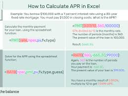 home loan interest calculator excel how to calculate annual percentage rate apr