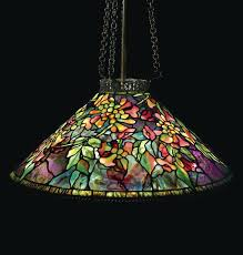 stained glass chandelier shades studios new leaded glass and bronze trumpet creeper chandelier stained glass ceiling stained glass chandelier