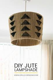 The Easiest Diy Jute Lampshade Youll Ever Make Grillo Designs