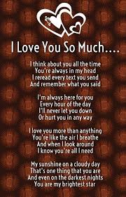 Love Quotes To Send To Him I Love You So Much Poems for Him and Her with Images Truths 75