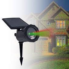 Solar Projector Christmas Lights Night Stars Solar Powered Laser Light Projector Outdoor Solar Christmas Light Projector Red Green Solar Laser Lights Automatic On Off Timer