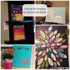 canvas art project spring