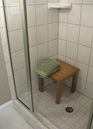 Small Bathroom Stools Teak Corner Shower Bench Wooden Bath Stool Small Corner Teak