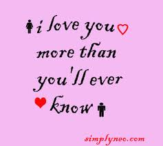 I Love You More Than Funny Quotes Fascinating I Love You More Than You'll Ever Know SimplyNeo Quotes