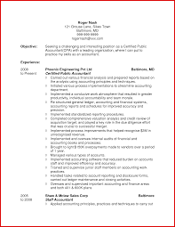 Resume For Accounting Professional Accounting Resume Accounting Resume Objective Senior 10