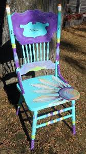 tropical painted furniture. turquoise hand painted chair by carolynu0027s funky furniture tropical a