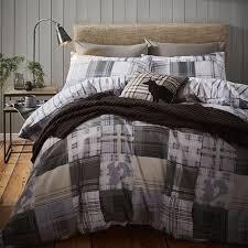 woodland animals brushed cotton king size bedding set