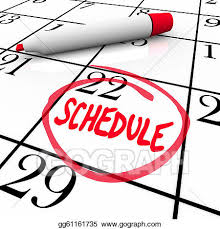 Schedule Word Stock Illustration Schedule Word Circled On Calendar