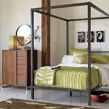 West Elm Metal Canopy Bed $500