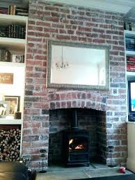 cleaning fireplace brick cleaning red brick fireplace how to