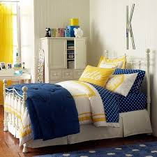 navy bedding with yellow accents navy