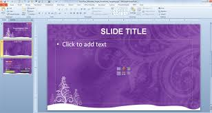 Themes For Microsoft Powerpoint 2010 Free Download Free Purple Christmas Powerpoint Template Free Powerpoint